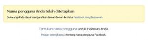 Facebook Nama Pengguna 3